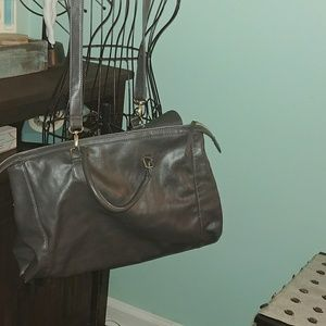 Kenneth Cole Reaction Bags - Kenneth Cole Reaction Gray Leather Tote